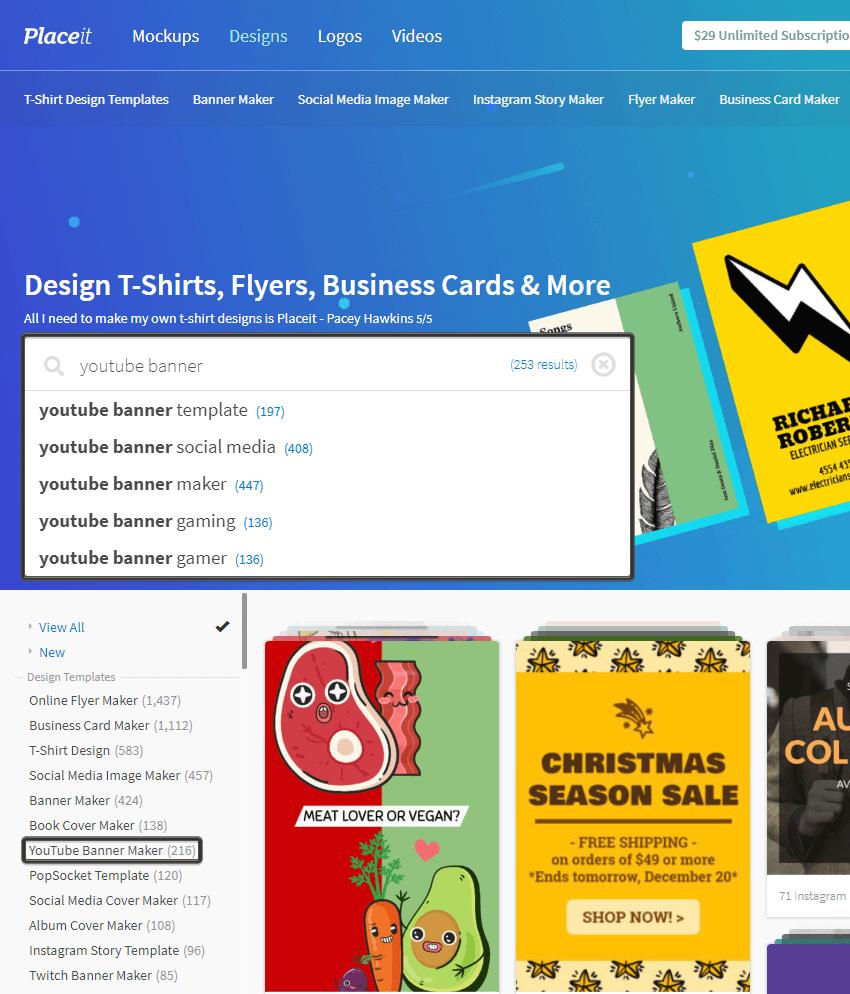 custom youtube banner maker