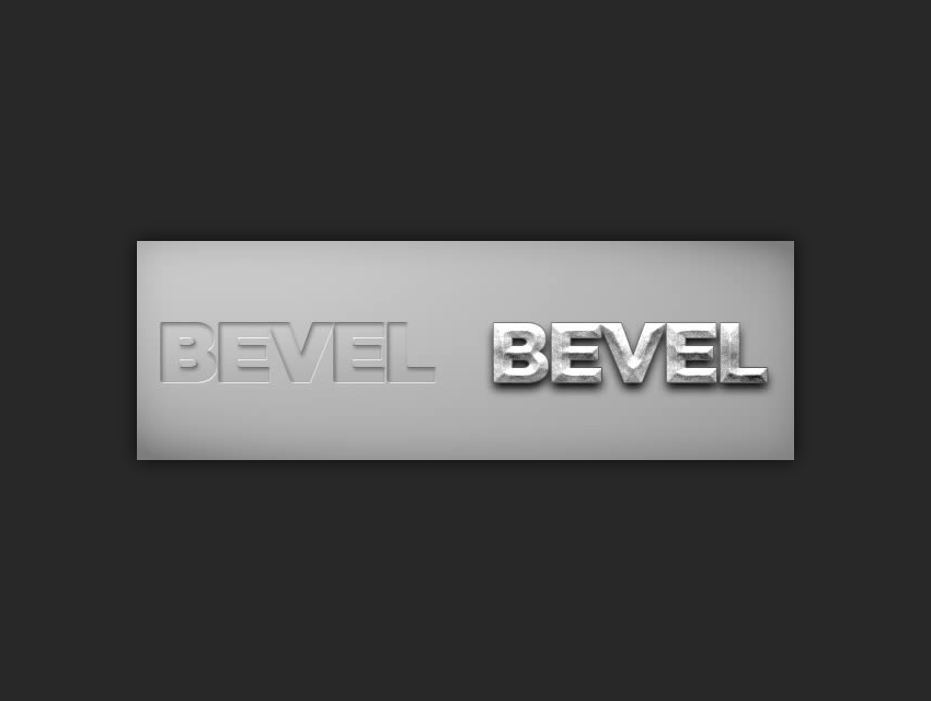 example of using the bevel and emboss layer style