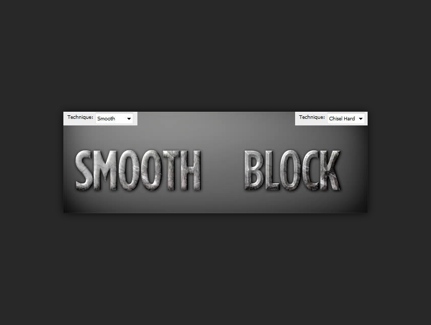 smooth versus chisel hard