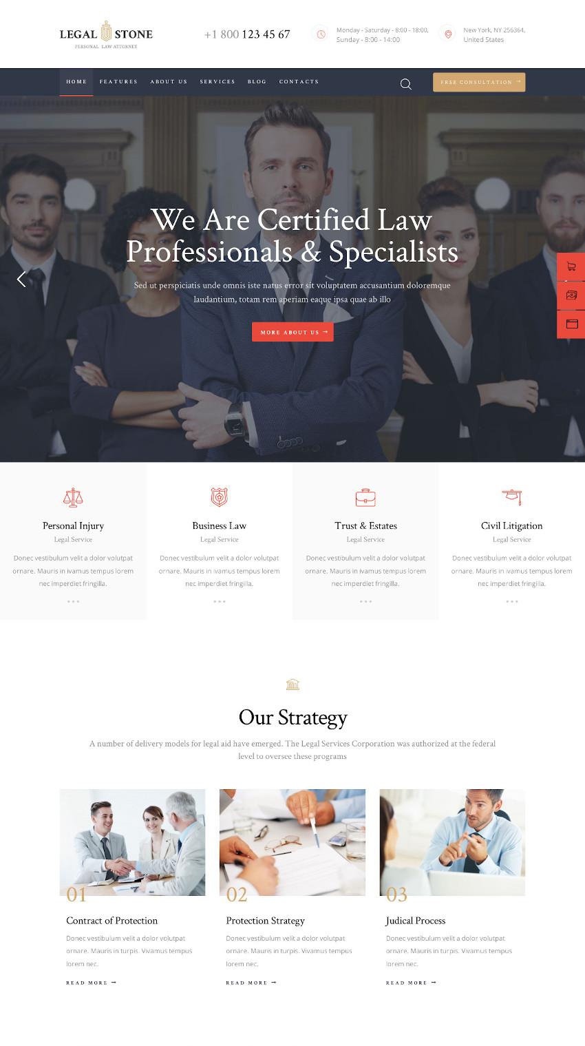 Legal Stone - Lawyer WordPress Theme