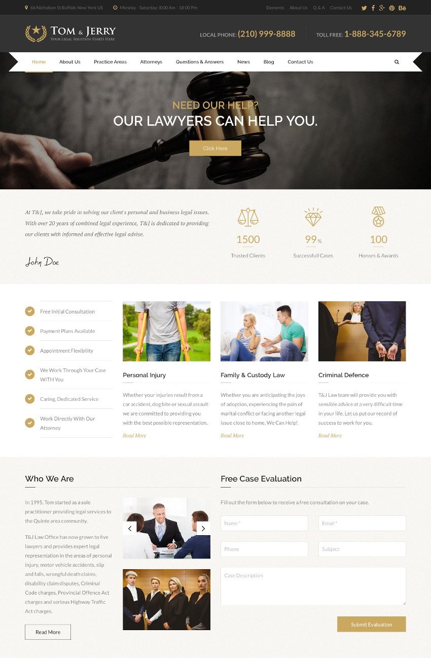 Tom  Jerry - a WordPress Law and Business Theme