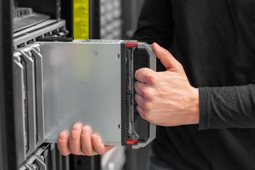 Installing a single server into a data center