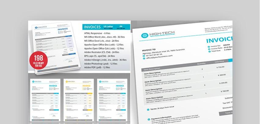 Microsoft Invoice Template Word  Multi-Format