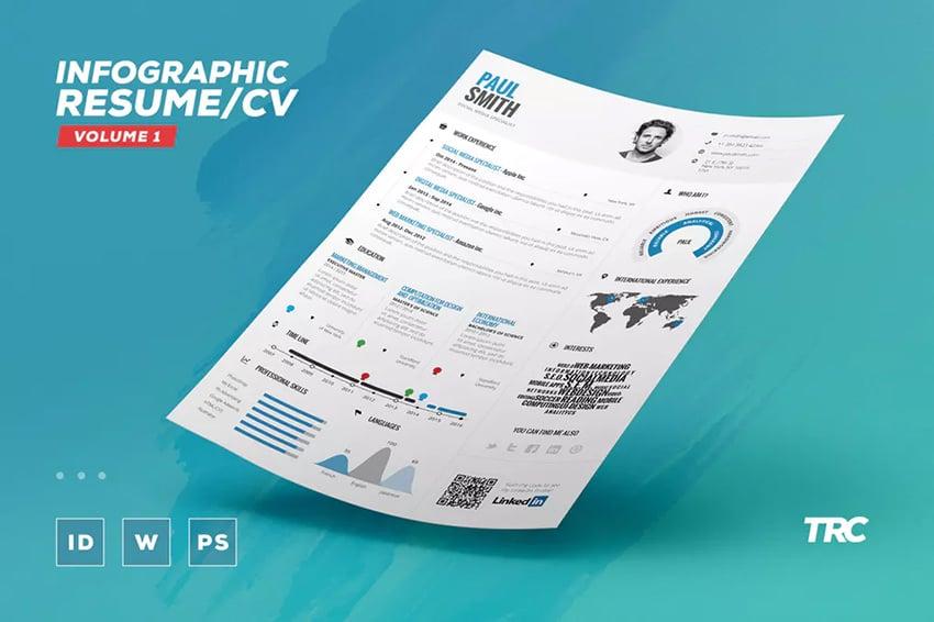 Infographic ResumeCv Volume 1