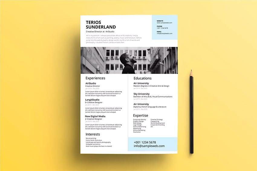 Professional ResumeCV Clean Minimal Design