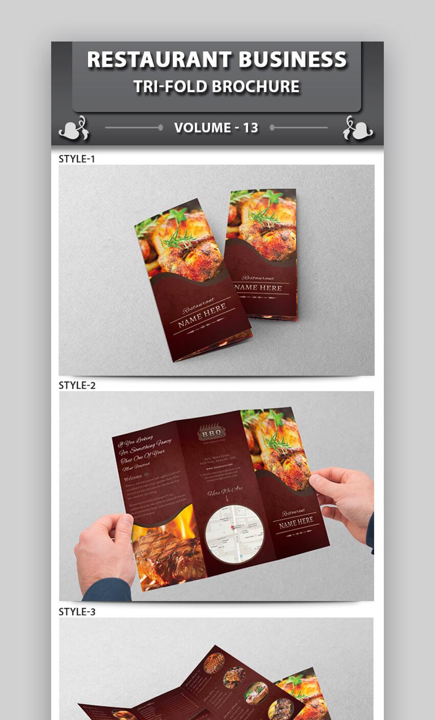 Restaurant Business Tri-fold Brochure
