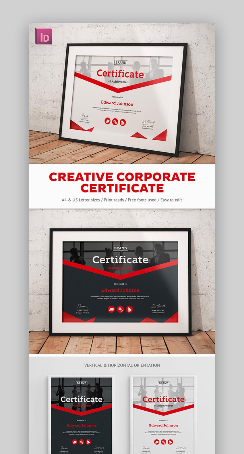 Creative Corporate Certificate