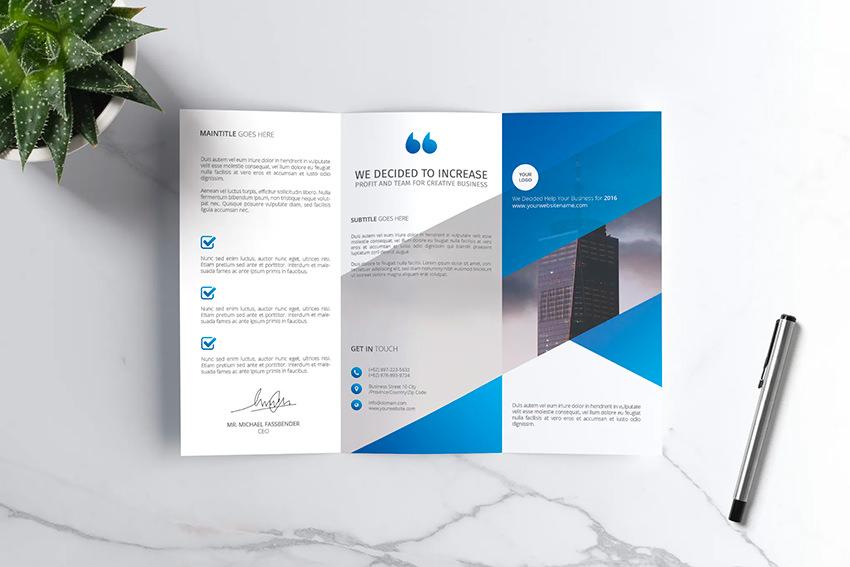 Company Trifold Brochure Vol 03