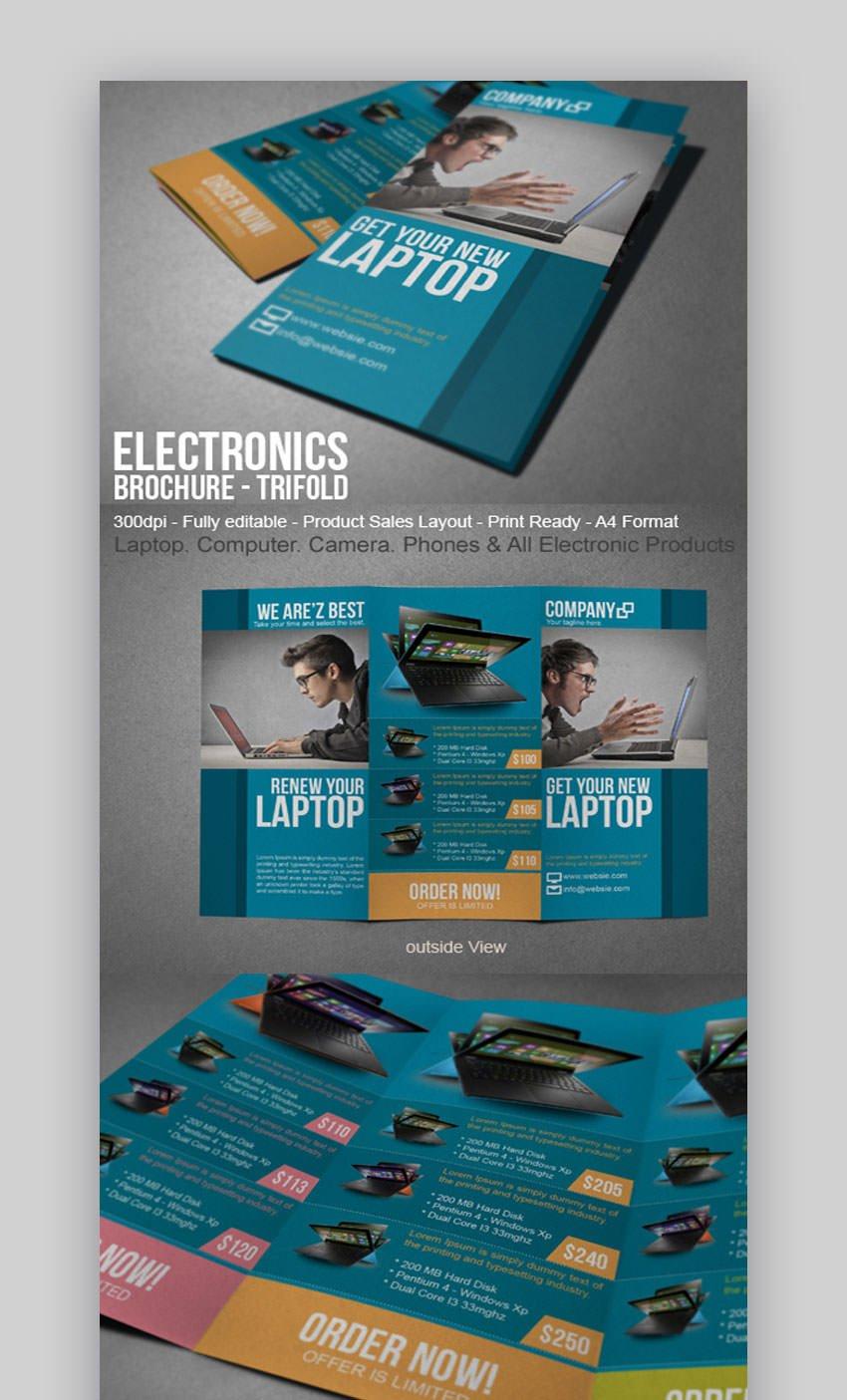 Electronic Sales Brochure Tri-Fold