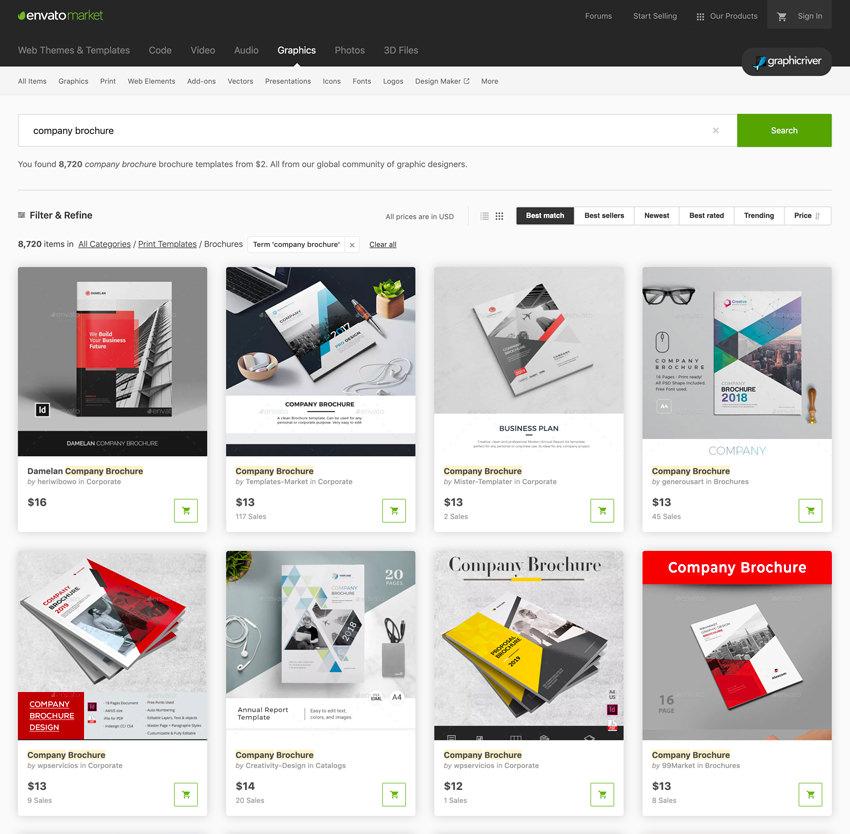 GraphicRiver templates