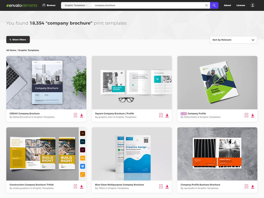 Marketing Brochure Examples from Envato Elements