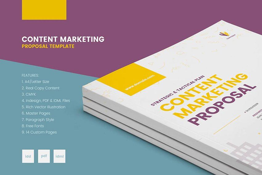 Real Copy Clean Content Marketing Proposal