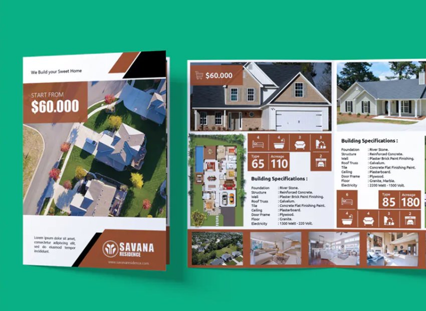 Real Estate and Property - Bifold Brochure - 5 Tips to Make Great Real Estate Brochure Designs