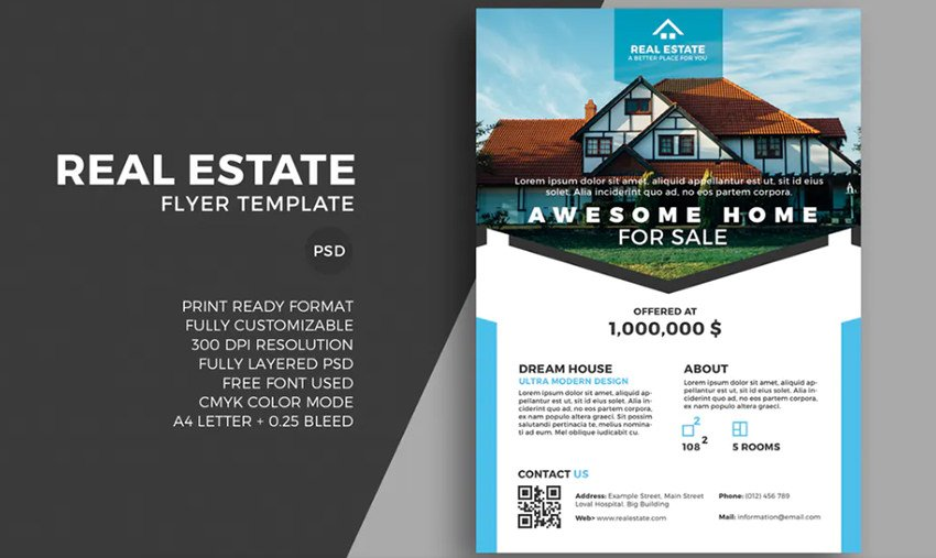 Real estate flyer template - 5 Tips to Make Great Real Estate Brochure Designs