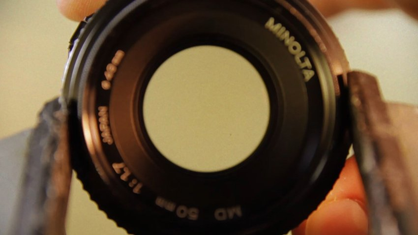 Looking through a lens with a wide aperture