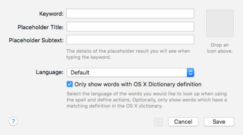Dictionary Workflow Element