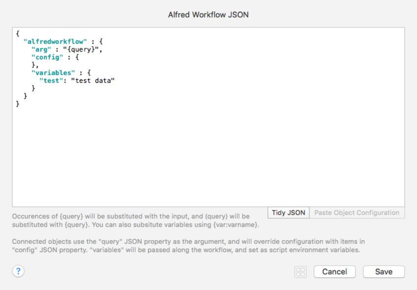 JSON Workflow Element