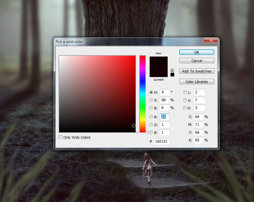 color fill exclusion mode