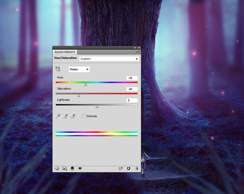 light texture hue saturation