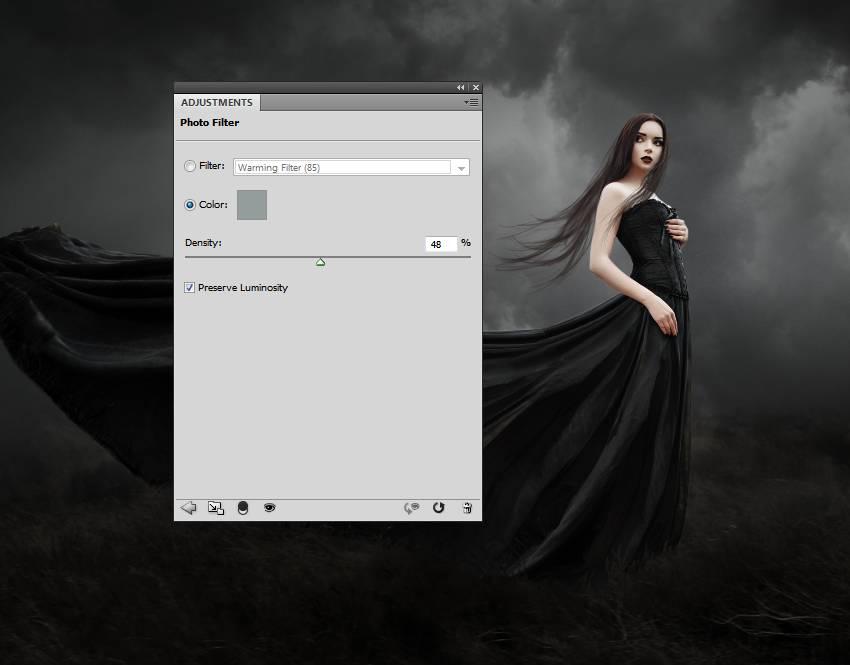 model photo filter