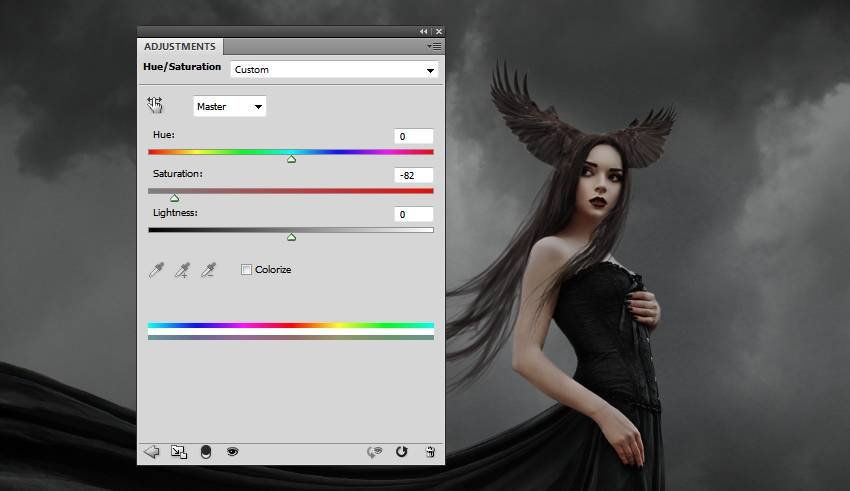 wings hue saturation