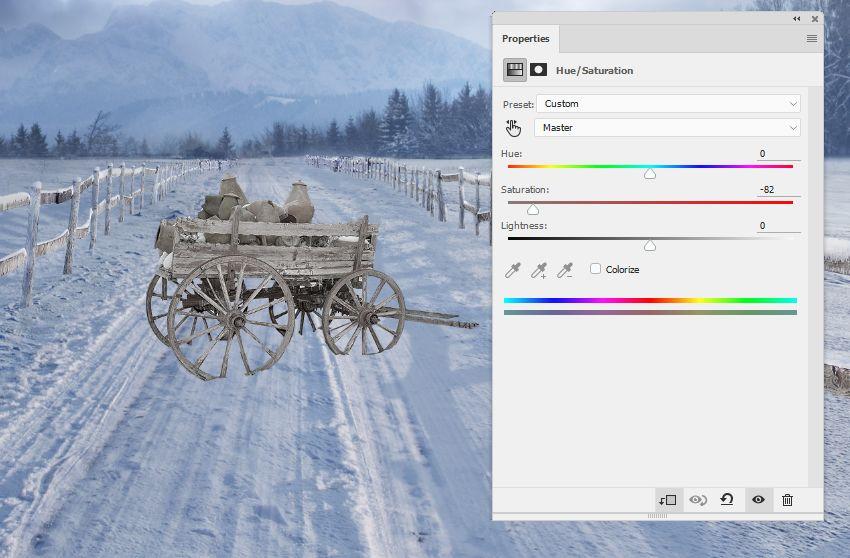 wagon hue saturation