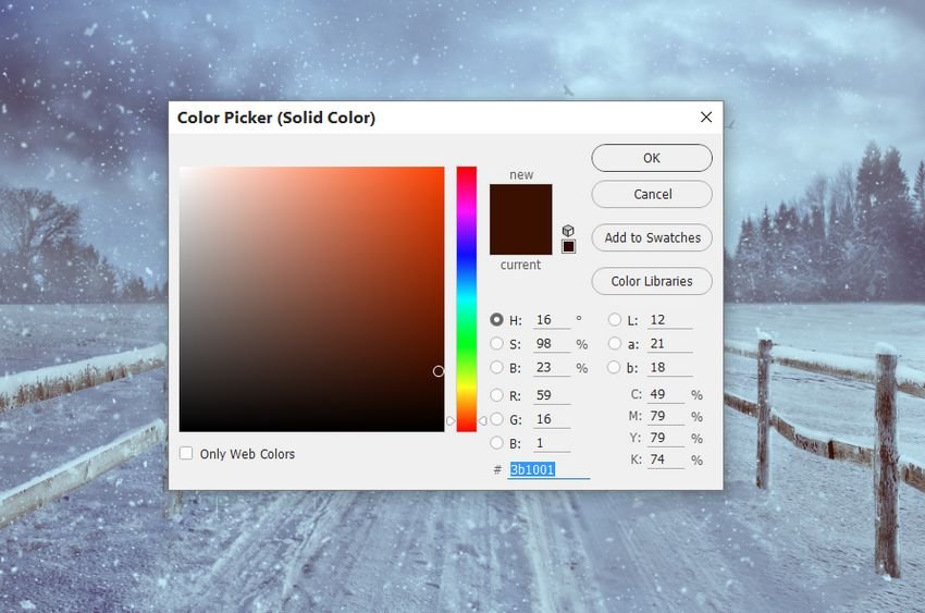 color fill layer