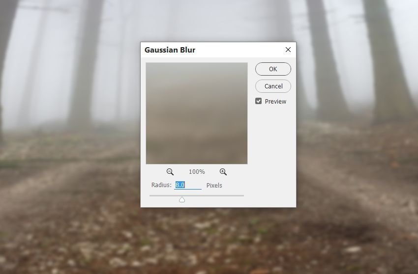 forest gaussian blur