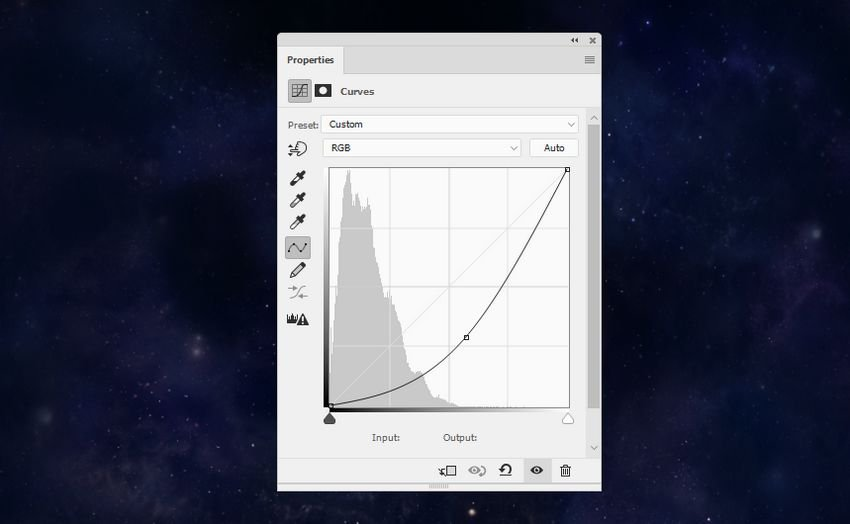 space background curves