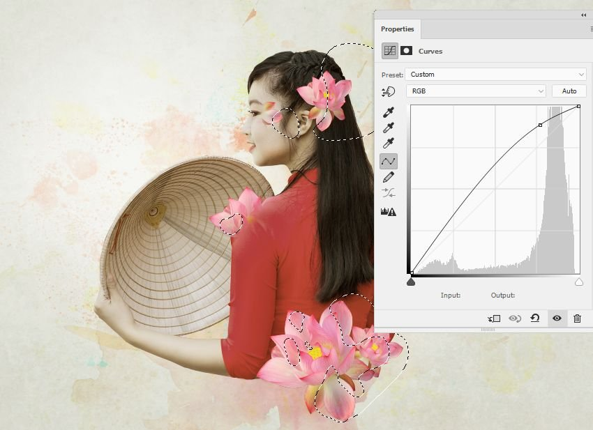 lotuses curves adjustment layer