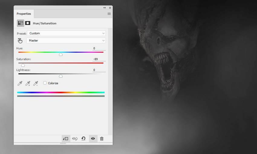 devil 2 hue saturation adjustment layer