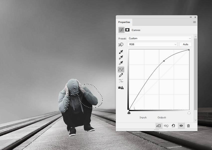 model curves adjustment layer