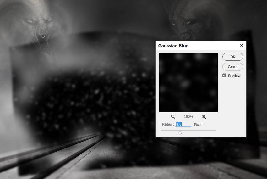 particles gaussian blur
