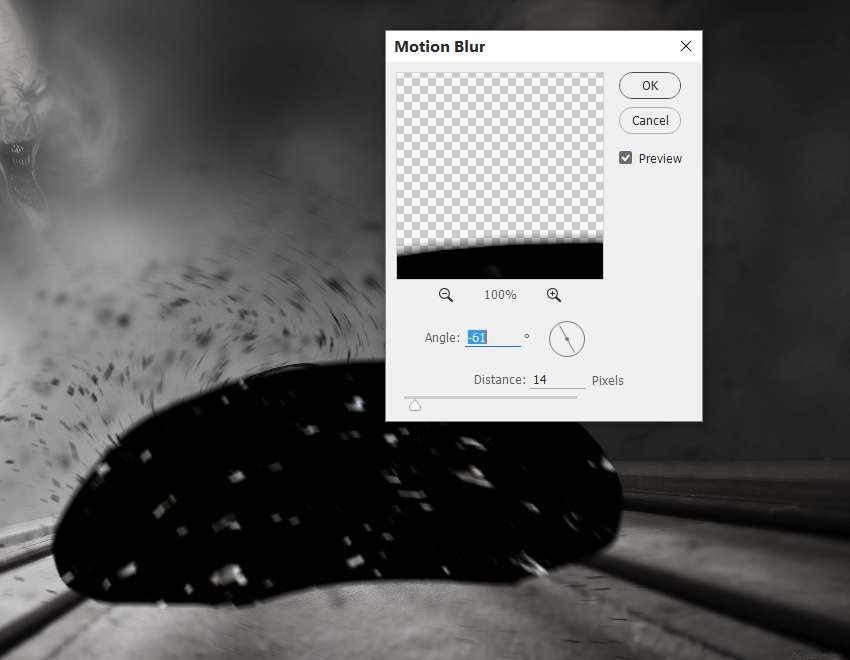 particles motion blur
