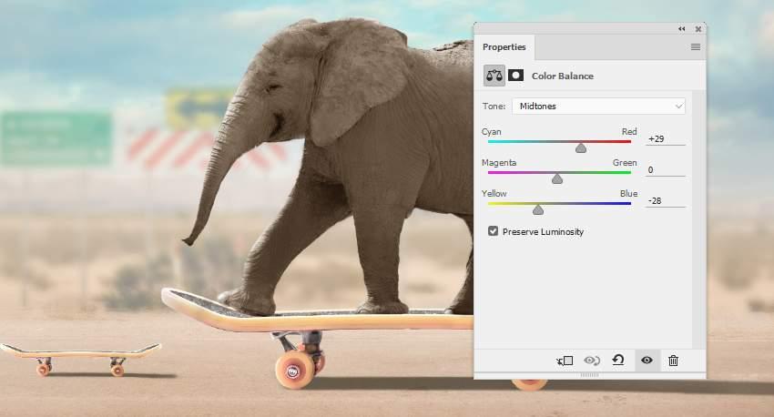 elephant color balance