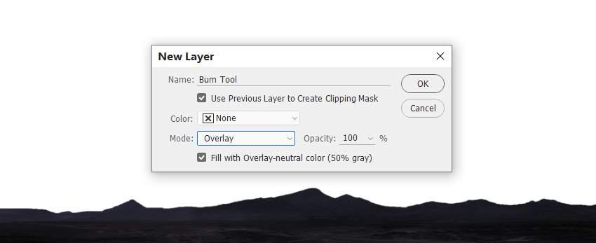 landscape burn tool