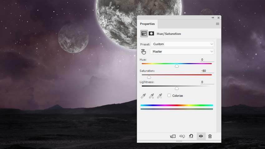 planets hue saturation