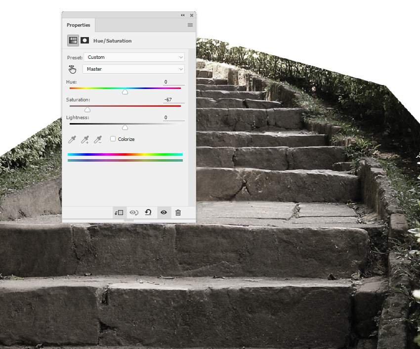 stair hue saturation