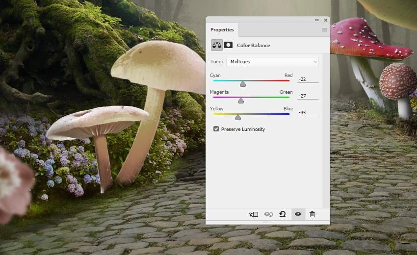 mushrooms 7 color balance