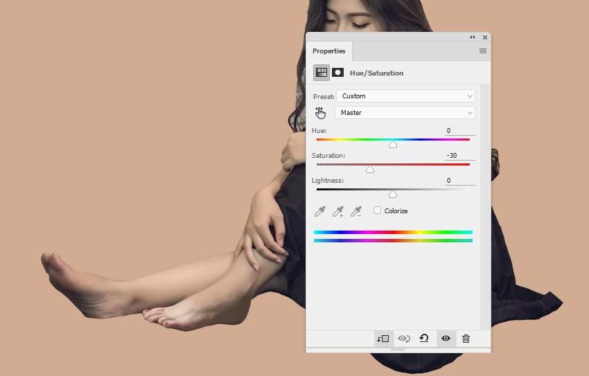 foot hue saturation