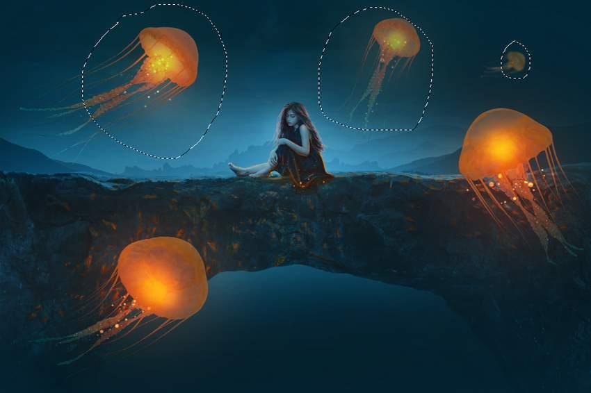 reduce jellyfish visibitily