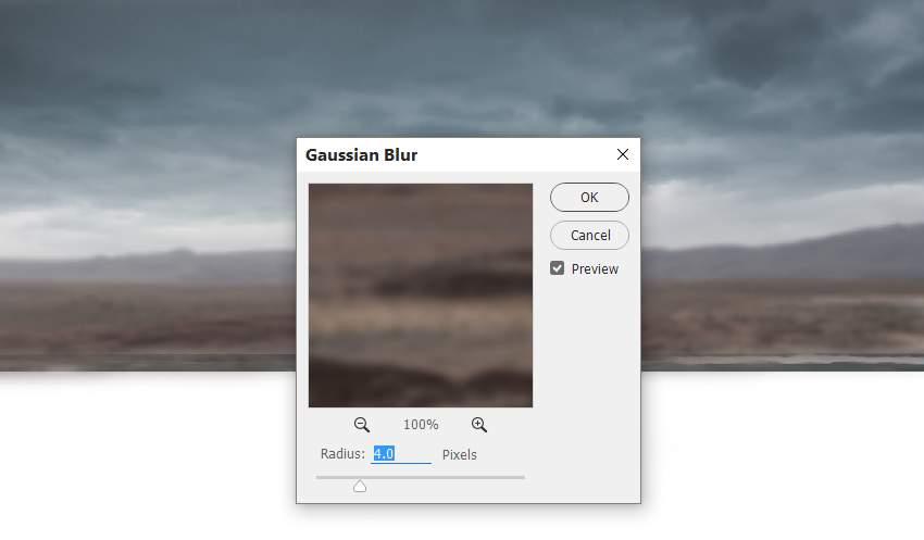 landscape gaussian blur