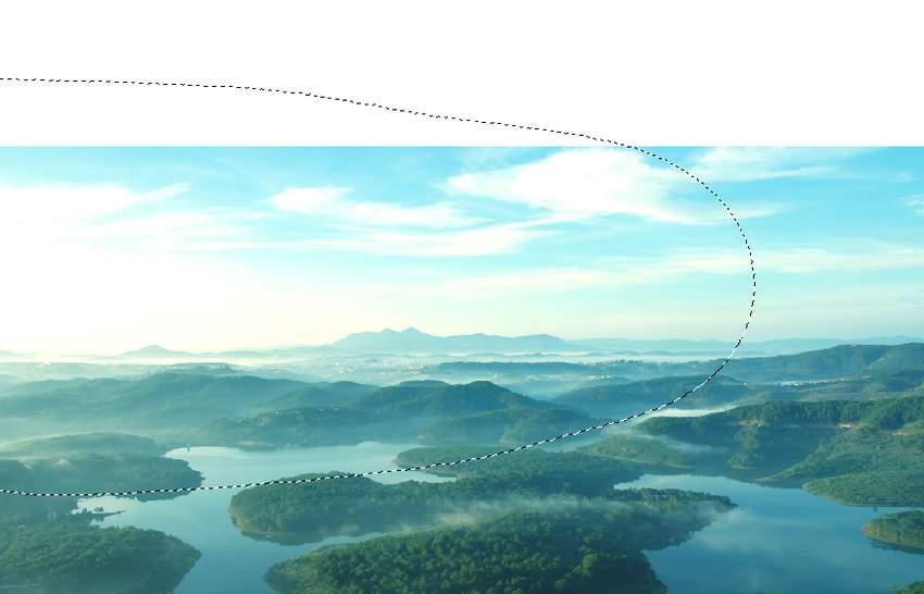 boat photomanipulation - landscape 1 curves 1 masking