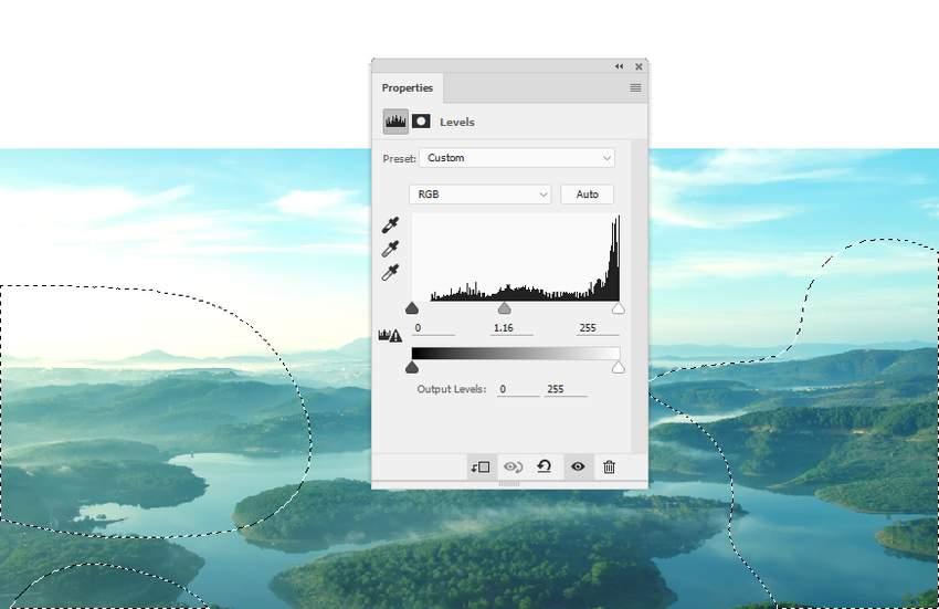 boat photomanipulation - landscape 1 levels