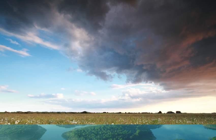 boat photomanipulation - add sky