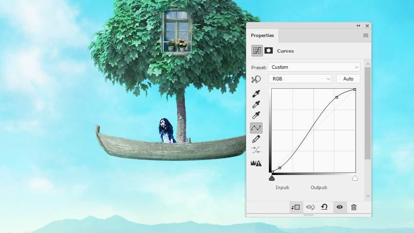 boat photomanipulation - model curves 2