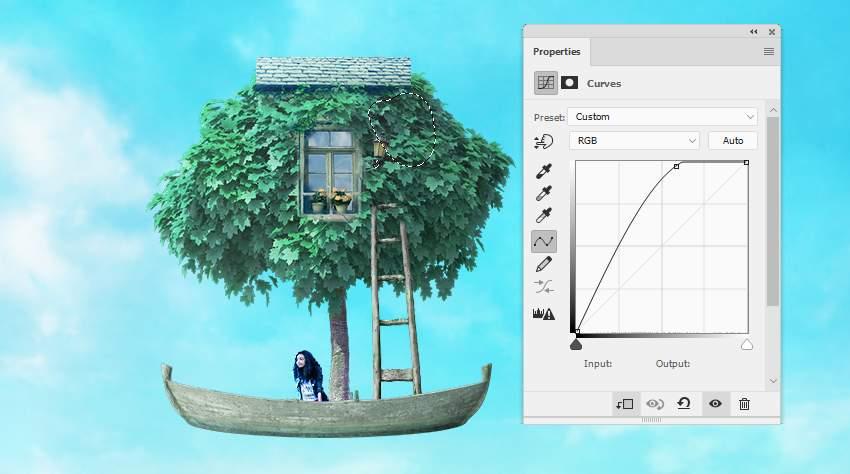 boat photomanipulation - lamp curves