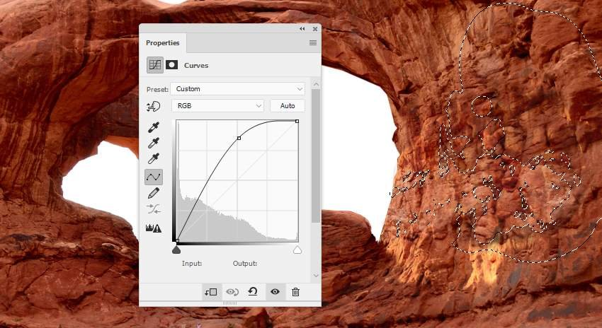 Photoshop Adjustment Layers - arch texture curves