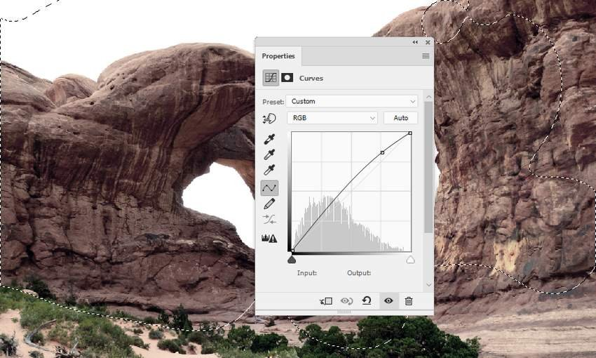 Photoshop Adjustment Layers - arch curves