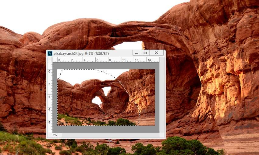 Photoshop Adjustment Layers - add left arch part